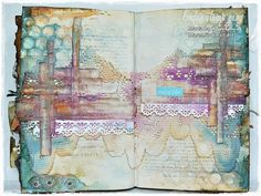 Marta Lapkowska: Art journal page and new colour challenge at Lindy's Stamp Gang