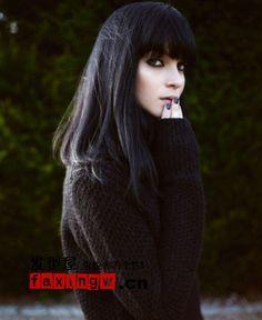 黑发发型回归最初纯美 黑发大美女图片