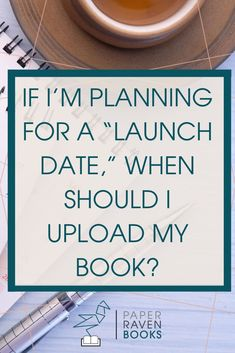 """So. You've been prepping and planning for your launch. Now, the question is """"when can I finally see this out in the world?"""" The answer is sooner than you'd think. When working with printed books, both hardback and paperback, it's best to upload your book a month before your launch date. The e-book should be uploaded a week before the launch date. Both of these need to be uploaded so far in advance to make sure everything runs smoothly. Sell Your Books, My Books, Authors, Writers, Tell The World, Book Launch, Book Projects, Self Publishing, Invite Your Friends"""