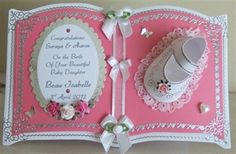 Baby Shoe Tattered Lace Cards, Card Book, Shaped Cards, 3d Cards, Baby Shower, Card Making Inspiration, Pretty Cards, Scrapbook Cards, Scrapbooking