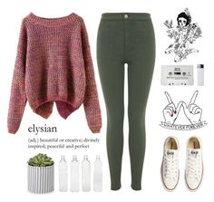 """""""{ Happy New Year guys! }"""" by alienwnnabe ❤ liked on Polyvore featuring Miss Selfridge, Converse and Seletti"""