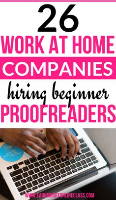 Are you a freelance proofreader or editor looking for work from home companies hiring now? Get these 31 Online Proofreading Jobs for Beginners and experienced proofreaders. by EarnSmartOnlineClass Read Work From Home Companies, Online Jobs From Home, Online Work, Work From Home Moms, Make Money From Home, Way To Make Money, Marketing Program, Marketing Jobs, Affiliate Marketing