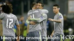 Tomorrow the personal highlights of CR7 vs Wolfsburg