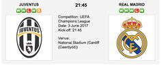 Juventus F.C. v Real Madrid C.F. - UEFA Champions League Final - predictions, betting tips and match preview. Our tipsters are backing the goals between these European giants at the National Stadium (Cardiff (Caerdydd)). Juventus vs. Real Madrid Match Date: 3 June 2017 (local time) Venue: National
