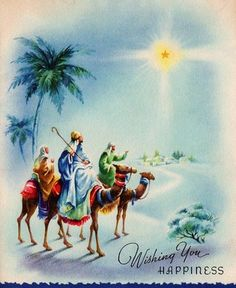 Vintage Christmas card ~ seeking