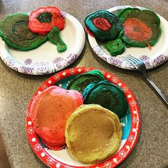Things get colorful when dad does breakfast! #masterofbreakfast #colorful #healthierwithcolor