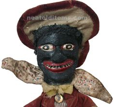 A rare 20 inch high hand-made Century Punch & Judy hand puppet. The Jim Crow character was added to many Punch & Judy puppet shows by the mid Century and remained a part of their … James Ensor, Punch And Judy, Victorian Interiors, Jim Crow, Hand Puppets, Outsider Art, Vintage Images, 19th Century, Folk Art