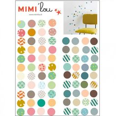 Stickers mural Pois (19 x 26 cm) : Mimi'lou - Stickers graphique - Berceau Magique