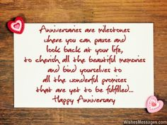 Happy Anniversary Wishes Images and Quotes. Send Anniversary Cards with Messages. Happy wedding anniversary wishes, happy birthday marriage anniversary Wedding Anniversary Quotes For Couple, Anniversary Wishes For Parents, Anniversary Quotes For Parents, Anniversary Wishes For Friends, Wedding Anniversary Message, Anniversary Quotes Funny, Wedding Quotes, Party Quotes, Work Anniversary