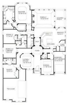 The Plan Studio exists for those who want the look of a custom home without the cost. Best House Plans, Dream House Plans, House Floor Plans, My Dream Home, Dream Homes, The Plan, How To Plan, Bedroom Layouts, House Layouts