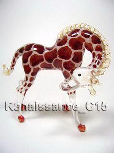 Figurine Animal Hand Blown Glass 1 Giraffe