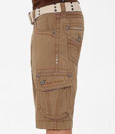 6b3d6265e8 ROCK REVIVAL JEANS MEN Cheap Sale Mid Rise Safari Brown Classic Cargo Shorts  32 #RockRevival