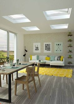 Παράθυρα Επίπεδης Οροφής ECO+ - Δομικά Πασίση Α.Ε. Skylight, Dining Table, Furniture, Decoration, Home Decor, Homemade Home Decor, Diner Table, Decorating, Dormer House