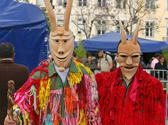 Caretos de Lazarim. Portuguese Traditional Carnival Costumes