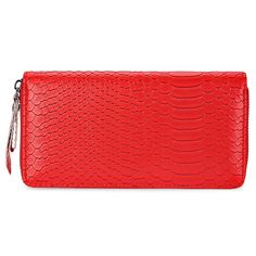 Snake Print PU Leather Long Wallet for Women