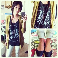 5/3/12 outfit: cardigan-Anthropologie/ tank- Live to Love Apparel / Jeans- J Brand/ Flats- Steve Madden/ Necklace - UO/ Watch- Marc By Marc Jacobs