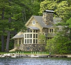 oh my, house on the lake...yes!! This is the one for the sweepstakes! Love the color and all the windows!