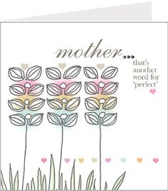 Perfect Mother - That's another word for perfect