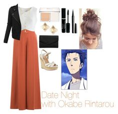 """""""Date Night with Okabe Rintarou"""" by charbear231 ❤ liked on Polyvore featuring Christian Dior, Marc Jacobs, Faith Connexion, Valentino, Chicwish, Charles by Charles David, LULUS and LE3NO"""
