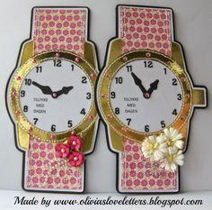 Olivias Loveletters: Preben Padde, taske og tiden på papir  Watch Card DIY silhouette needed for these!