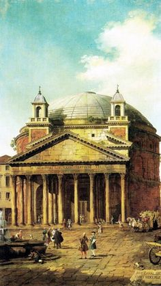 Giovanni Antonio Canal (called Canaletto) Rome: The Pantheon Oil Painting Reproductions for sale Architecture Antique, Classical Architecture, Historical Architecture, Architecture Art, Roman History, Art History, Architecture Romaine, Rome Antique, Empire Romain