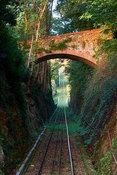 Stone Bridge, Montecatini Alto , province of Pistoia Tuscany, Italy