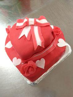Love Ribbon Stripe Cake