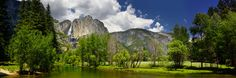 Another Phil Hawkins masterpiece of Yosemite Valley and Yosemite Falls in summer