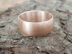 Ringe - Roségoldring gewölbt - ein Designerstück von Goldschmiede-Rapp bei DaWanda