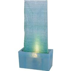 Torno Lighted Floor Fountain- would love this in my bedroom.