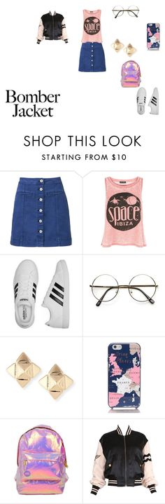 """""""Untitled #1712"""" by shadow-dxlvi on Polyvore featuring Witchery, New Look, adidas, Valentino, Kate Spade, Miss Selfridge, Moschino and bomberjackets"""