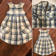 Custom Men's Dress Shirt Into Little Girls Dress / Upcycled Baby Dress from Dads. - Custom Men's Dress Shirt Into Little Girls Dress / Upcycled Baby Dress from Dads Shirt / Keepsake Dress / Christmas gift / Fathers Day Gift Source by - Old Dresses, Cute Dresses, Little Girl Dresses, Girls Dresses, Baby Dresses, Pageant Dresses, Bridesmaid Dresses, Summer Dresses, Diy Dress