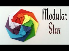 How to make a Modular star (Mandala) of radiance - Decorative Origami tutorial - YouTube