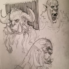 I made up a thing! #pageofOrcs tag a fellow artist and you both have to draw a page of orcs - I challenge @d20doodler give us some orcs #Sketchbook #drawing by aldoori_art