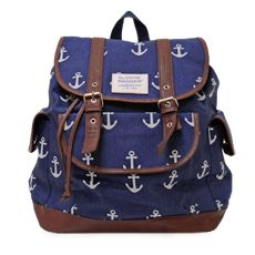 Love, love, love, anchors! The anchor slouch backpack.