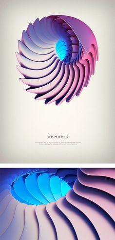 Revolved forms: Digital Art by Črtomir Just   Inspiration Grid   Design Inspiration