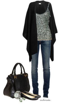 """""""Sequins and Cashmere"""" by archimedes16 on Polyvore"""
