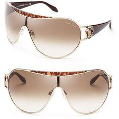 Roberto Cavalli Shield Sunglasses ($290) ❤ liked on Polyvore