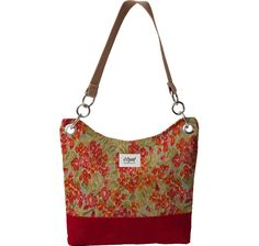 Sedona Shoulder Tote with Monet Garden body and Casino Cranberry base.  I love the rich colors!