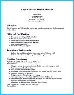 Flight Attendant Resume Template Free Resume Format Templates ...