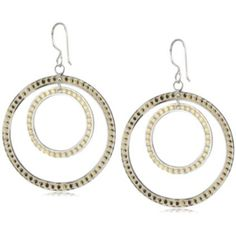 """Anna Beck Designs """"Bali"""" Double Hoop 18k Gold Plated Earrings"""