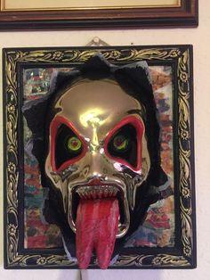 paper mache mixed media scary halloween prop art wall art - Halloween Props For Sale