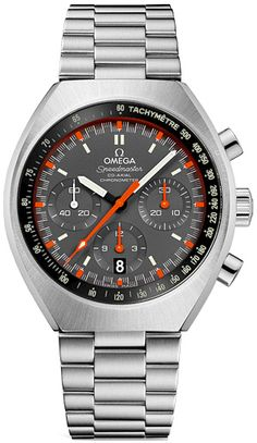 Official Omega Speedmaster Mark II Co-Axial Mens Model: 327.10.43.50.06.001, Grey Dial, Chronograph & Tachymeter Feature, Self Winding Automatic Chronometer Movement, Polished and Brushed Stainless Steel Case & Bracelet