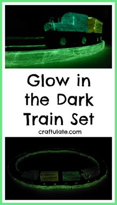 Glow in the Dark Train Set by Craftulate
