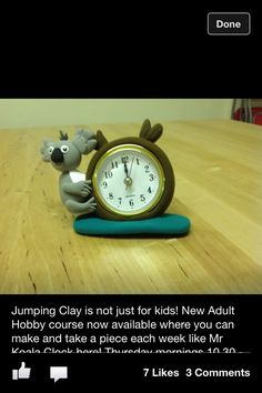 Jumping clay Lisburns work - love it! The best air-dry clay ever