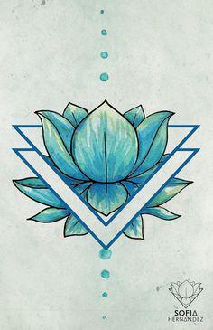Illustration watercolor geometric on Behance