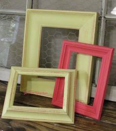 Picture Frames Decorative Frames Distressed by ThrownTogether, $37.00