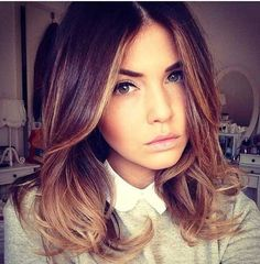 ombre for shoulder length hair