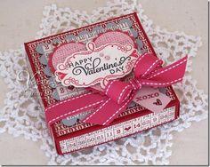 Valentine mini pizza box