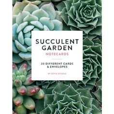 Chronicle Books Succulent Garden Notecards By (47 BRL) ❤ liked on Polyvore featuring home, home decor, stationery, books, fillers, decor and backgrounds